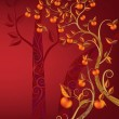Royalty-Free Stock Vector Image: Autumn tree with fruits