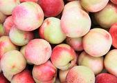 Fresh red peaches — Stock Photo