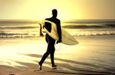 Surf teacher — Stock Photo