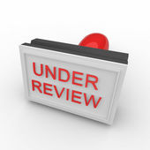 3d rubber stamp under review — Stock Photo