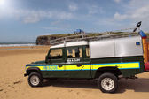 Beach side rescue vehicle — Stock Photo