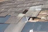 Damaged roof — Stock Photo