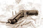 Donkere pistool criminaliteit — Stockfoto