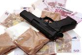Drug money vice — Stock Photo