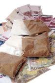 Drugs money — Stock Photo