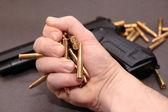 Gun bullet trade — Stock Photo