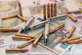 Gun crime ammunition — Stock Photo
