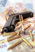 Gun crime scene — Stock Photo