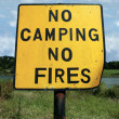 No camping and fires - Foto de Stock