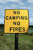 No camping and fires — Stock Photo