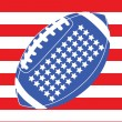Royalty-Free Stock Vector Image: USA football flag 1