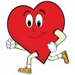Royalty-Free Stock Vector Image: Running heart