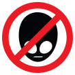 No aliens allowed — Stock Vector