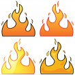 Flames — Stock Vector