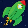 Royalty-Free Stock Vector Image: Cartoon rocket ship
