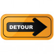 Stock Vector: Detour sign