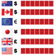 Currency rates board — Stock Vector