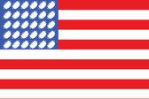 флаг сша футбол 2 — Cтоковый вектор