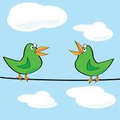 Birds chirping — Stock Vector