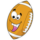 Cartoon football — Vector de stock