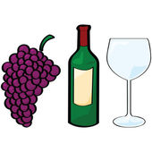 Wine elements — Stock Vector