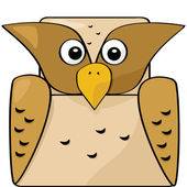 Cartoon owl — Stockvector