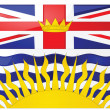Stockvector : Flag of British Columbia