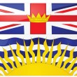 Flag of British Columbia - Image vectorielle