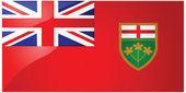 安大略省的旗子 — 图库矢量图片