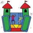 Bouncing castle - Stock Vector