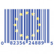 Europe bar code — Stock Vector