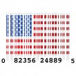 USA bar code - Stock Vector