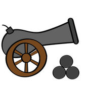 Cannon — Stock Vector