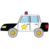Cartoon police car — Stock Vector