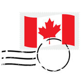 Canada stamp — Stock Vector