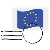 European Union stamp — Stock Vector
