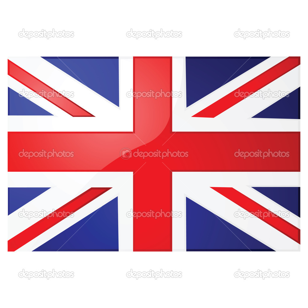 Glossy illustration of the Union Jack, the British flag — Stock Vector #3757670