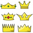 Cartoon crowns - Stock Vector