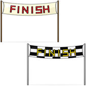 Finish line — Stock Vector