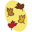 Fall leaves 2 — Stock Vector