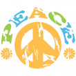 Vector de stock : Peace 70s