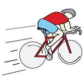 Ciclista — Vector de stock