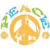 Frieden 70er Jahre — Stockvektor