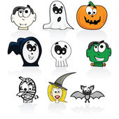 Halloween characters — Stock Vector
