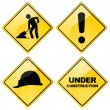 Stock Vector: Construction signs
