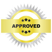 Seal of approval — Stock Vector