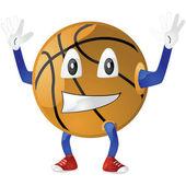 Baloncesto feliz — Vector de stock