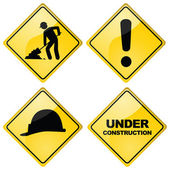 Construction signs — Stock Vector