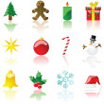 Christmas icons Christmas icons Christmas icons — Stock Vector #3850240