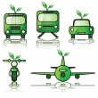 Stock Vector: Green transportation